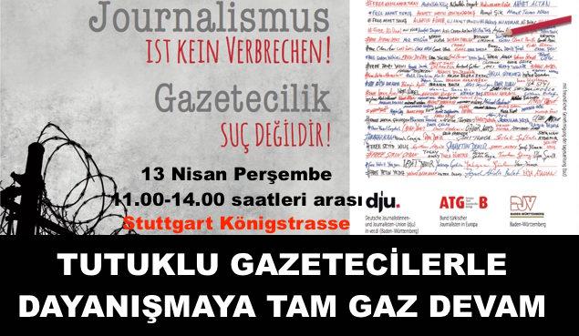 Tutuklu gazetecilerle dayanışmaya devam