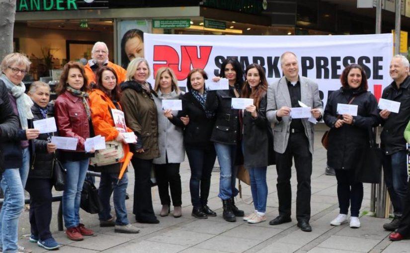 Große Solidarität mit inhaftierten türkischen Journalisten