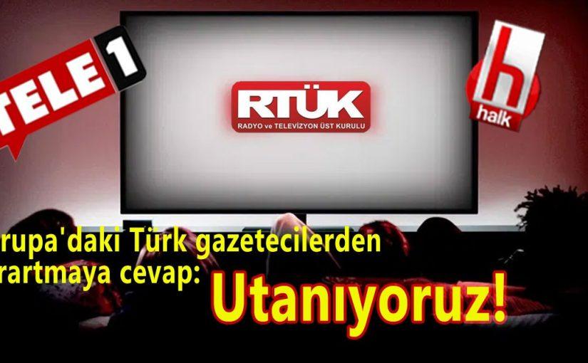 """Avrupa'daki Türk gazetecilerden Tele1'deki ekran karartmaya tepki : """"Utanıyoruz!"""""""